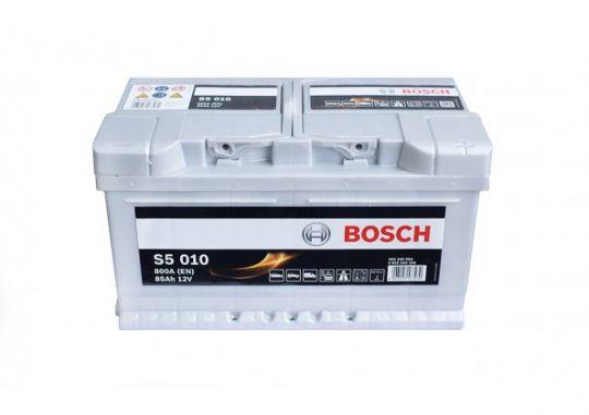 Автомобильный аккумулятор АКБ BOSCH (БОШ) S5 010 / 585 200 080 85Ач о.п. (низк.)