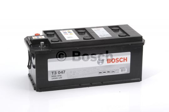 Автомобильный аккумулятор АКБ BOSCH (БОШ) T3 047 / 643 033 095 143Ач о.п. (3)