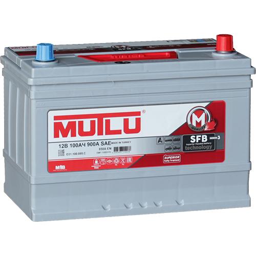 Автомобильный аккумулятор АКБ MUTLU (Мутлу) D31.100.085.С SMF 115D31FL 100Ач О.П. нижнее крепление
